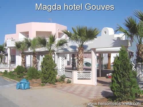 Magda hotel Gouves. Zeer luxe hotel in gouves, 5 minuten van strand, tussen heraklion en hersonissos.