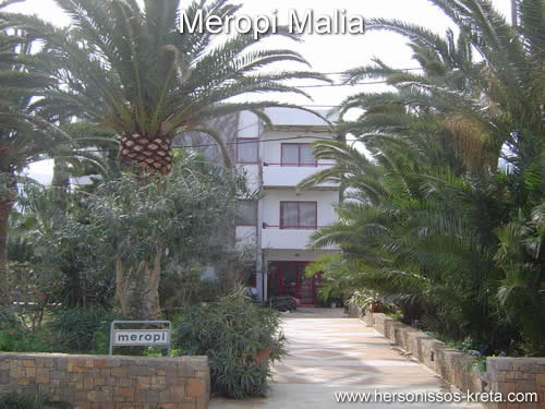 Appartementen Meropi Malia Kreta.