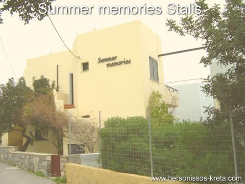 Summer memories stalis kreta, aan de beachroad van stalis. Vlak bij hoofdweg malia chersonissos.